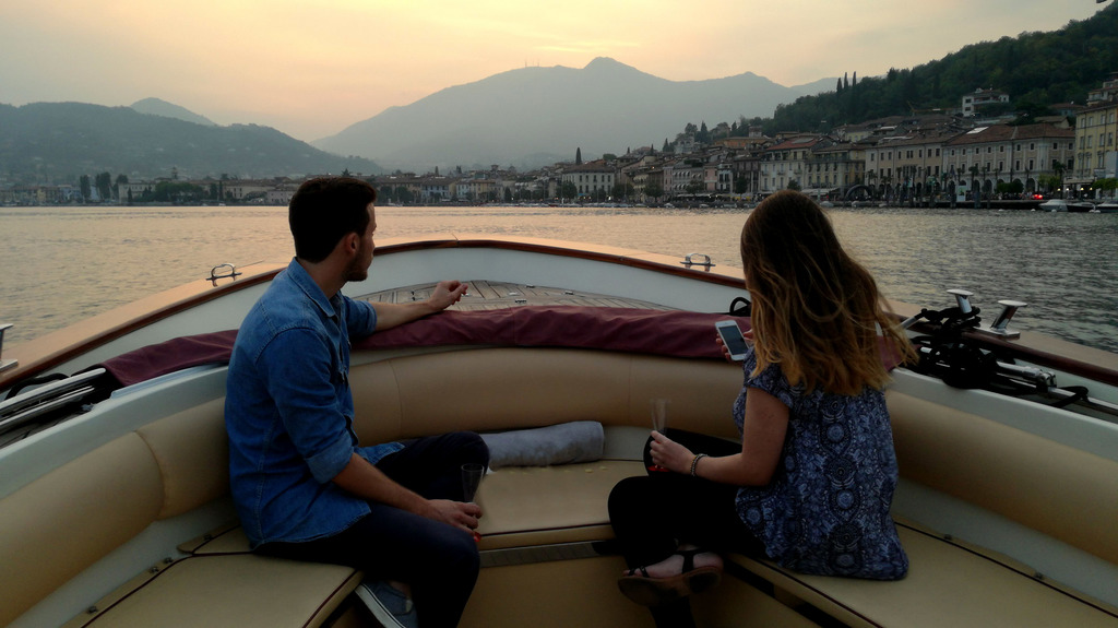 Lake Garda sunset Bee boat trip